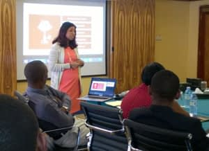 To teach is to learn twice: Ashanka, pictured here, is teaching strategy skills and process. (Photo by Ashanka Iddya)