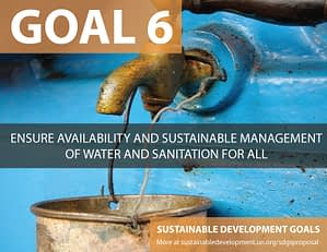 SDG Goal 6 Clean Water from United Nations Sustainable Development Goals