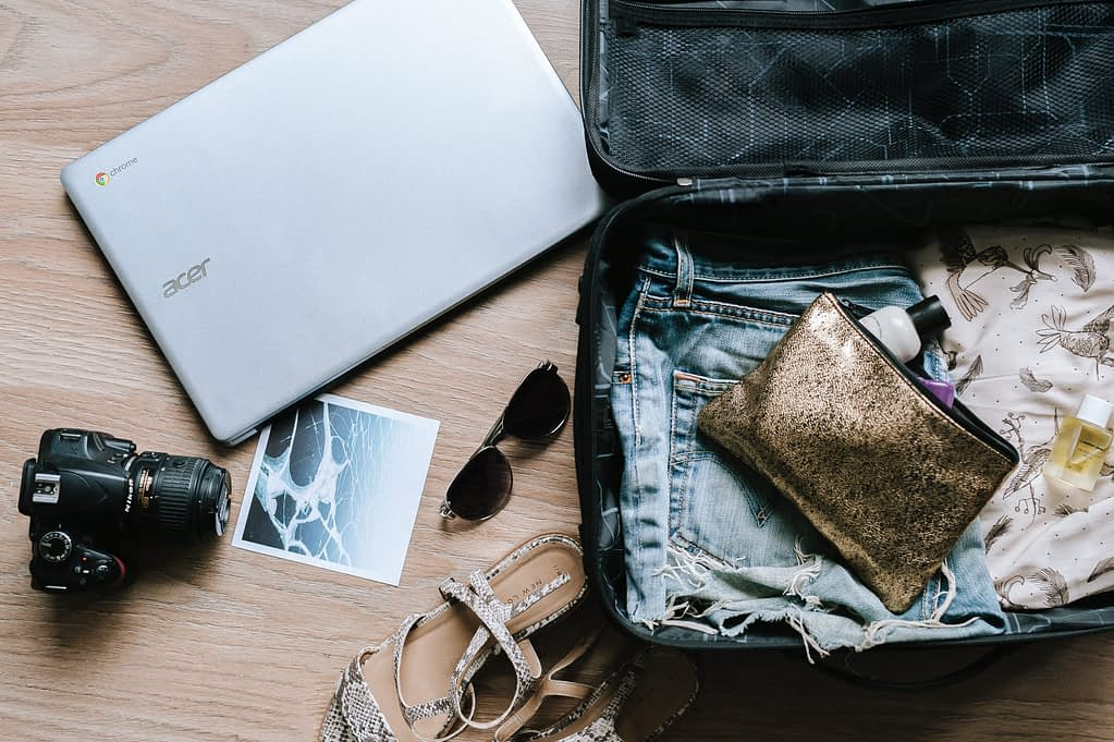 Open Suitcase - MovingWorlds Travel Tips Pack Effectively
