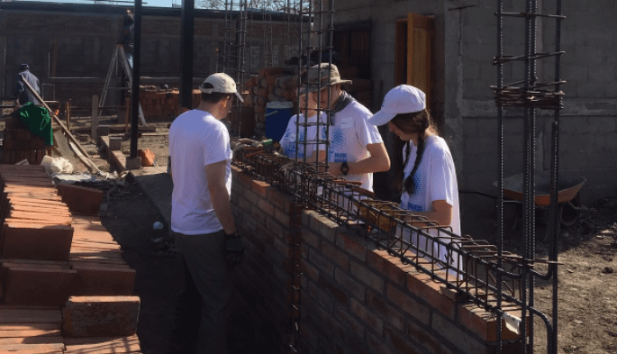 One of my activities with NicaPhoto was to assess and guide community visits from US groups. This is a Builders Beyond Borders group doing construction work at the new NicaPhoto facility.