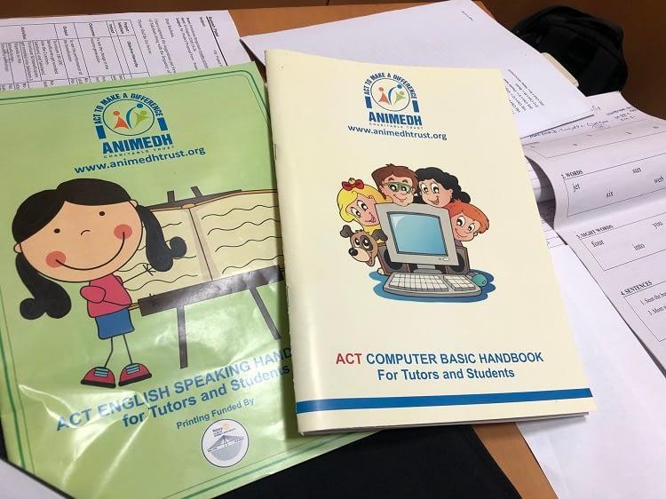 ACT handbooks used for children's education programs