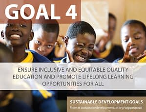 SDG Goal 4 - Education from United Nations Sustainable Development Goals