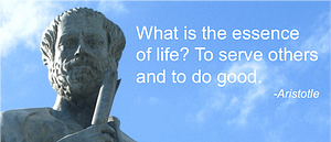 Aristole quote about service
