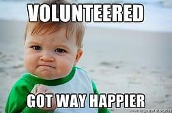 Volunteering makes you happier