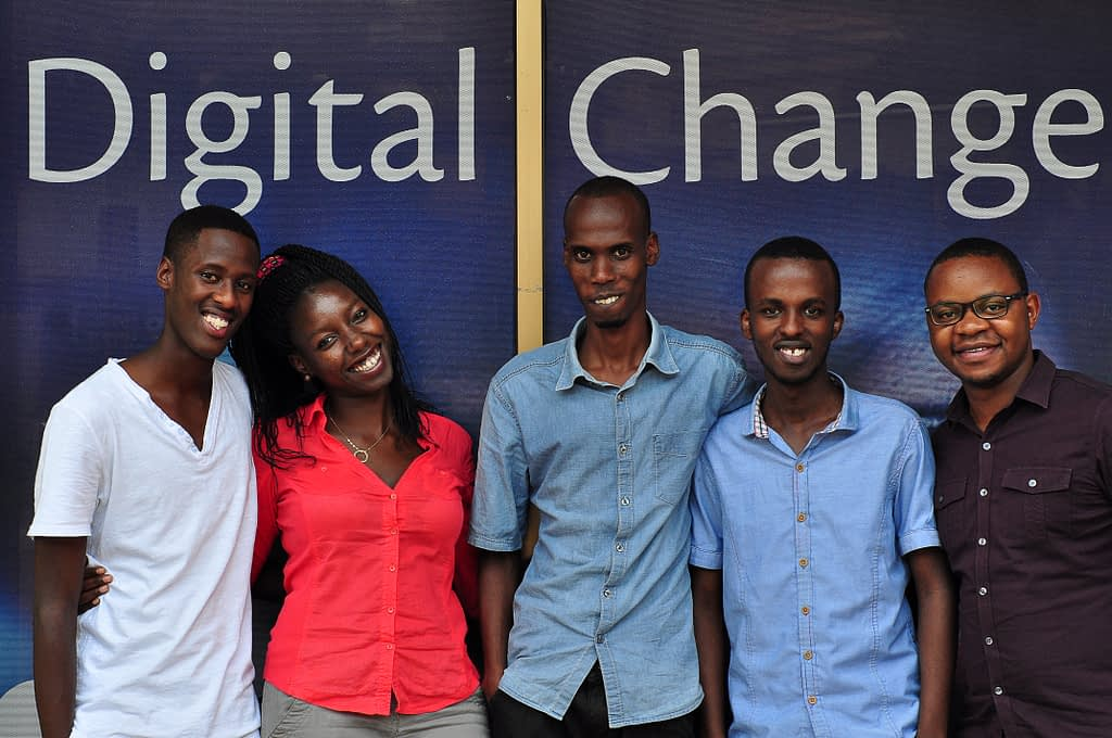 The team of Academic Bridge, an educational technology start-up that has been advised by the African Entrepreneur Collective.