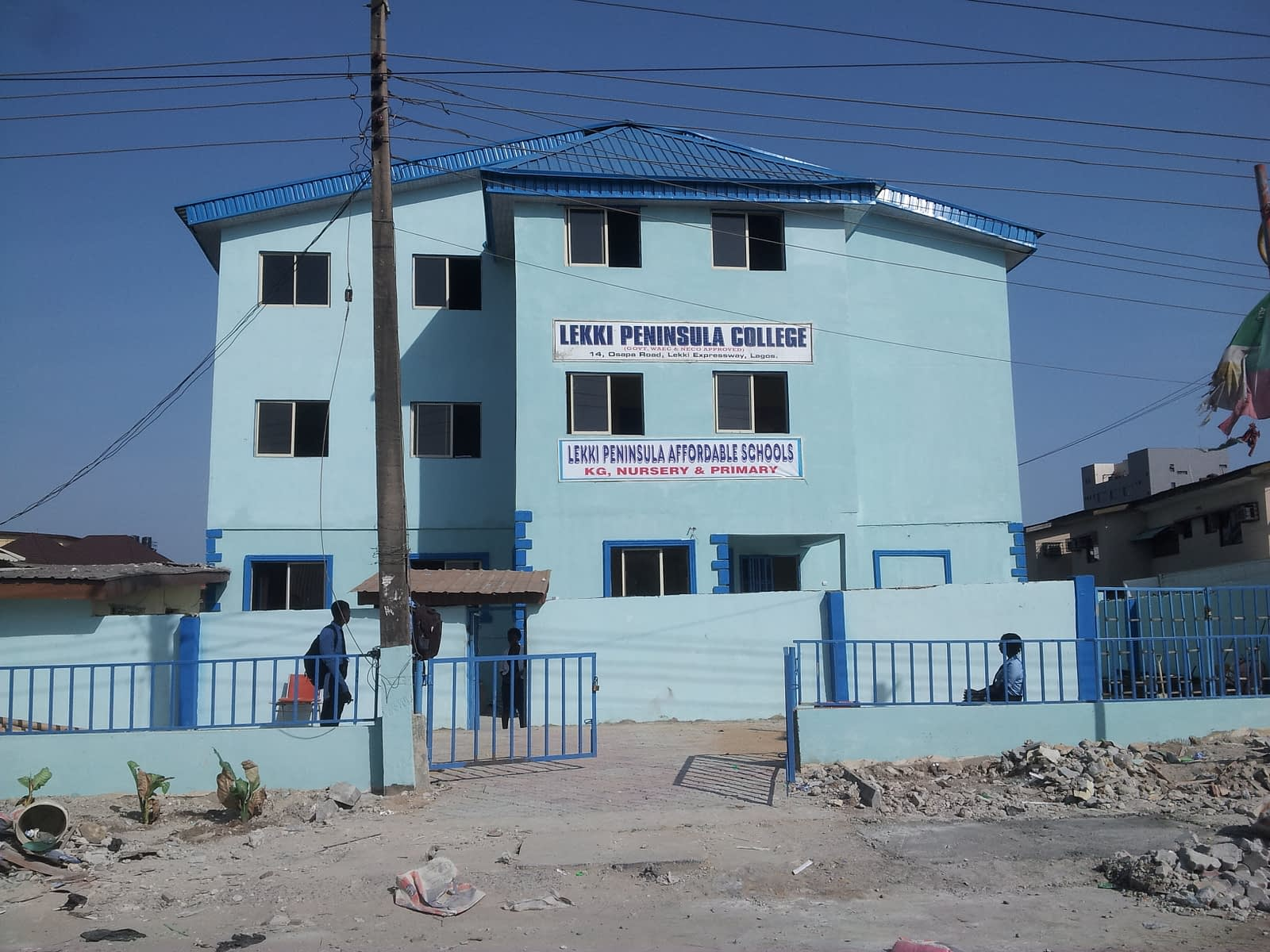 The bright Lekki Peninsula School, where lives are changed everyday.
