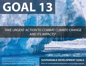 SDG Goal 13 related to climate change from United Nations Sustainable Development Goals