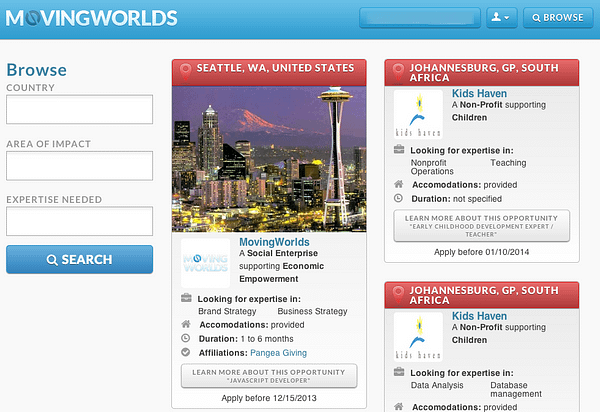 In search results, pictures of your city will show up on your cards to help you stand out.