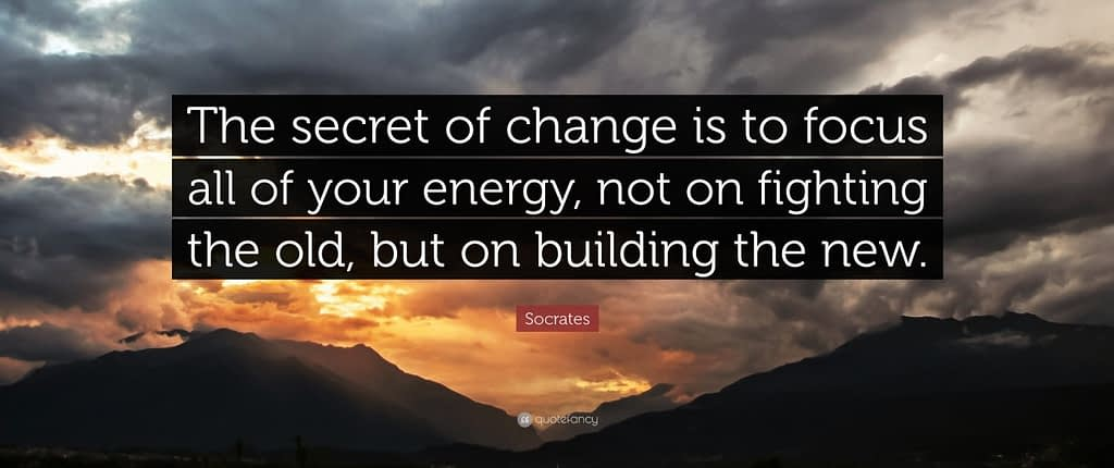 Quote picture about change