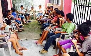 HCA students enjoying health snacks during class