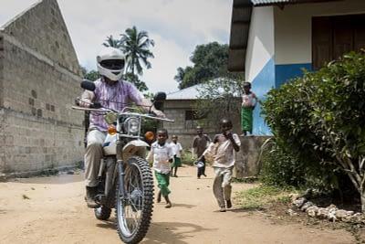 Image of man motorcycling