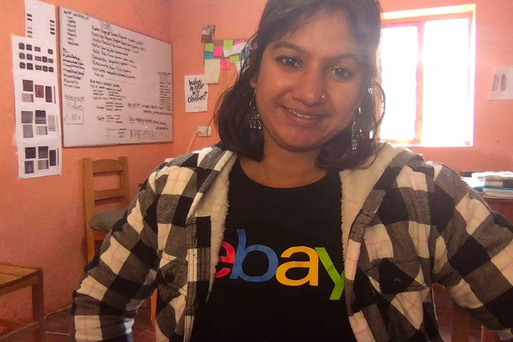 Ruchi on-site sporting her eBay shirt