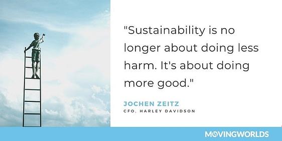 Jochen Zeitz quote about sustainability