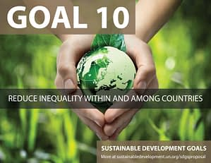 SDG Goal 10 - Reduce inequality from United Nations Sustainable Development Goals
