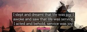 service was joy quote