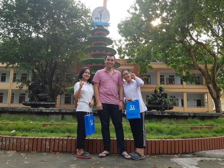 Sam with HOCMAI students