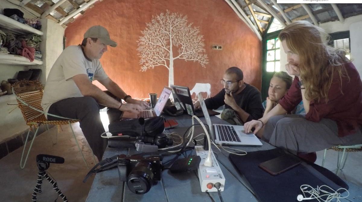 Volunteering multi media skill in India