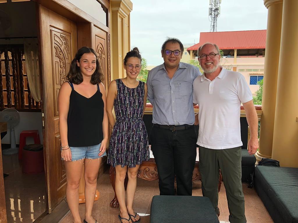 Daniel with Samatoa Lotus Textiles Team
