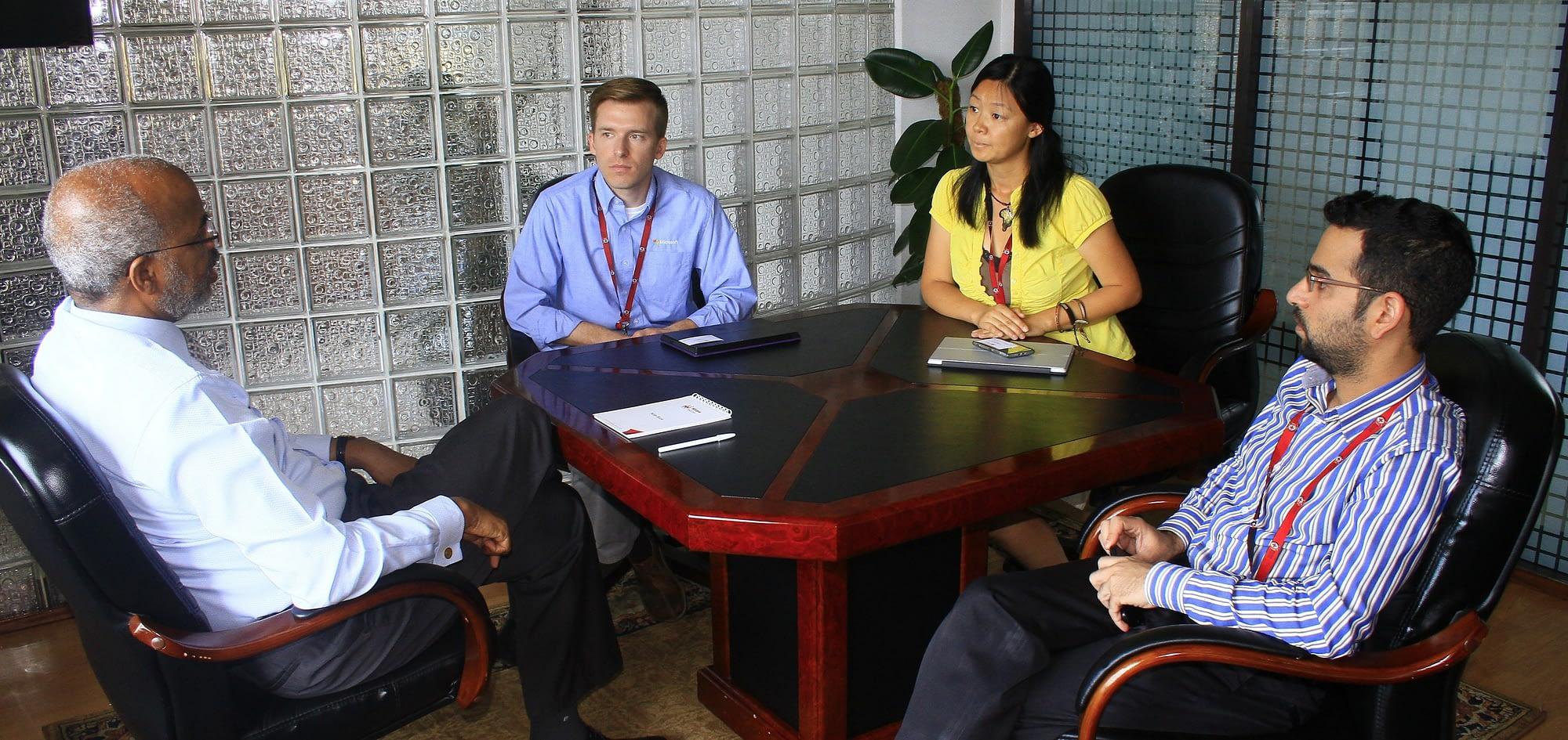 Microsoft employees volunteering overseas as a team