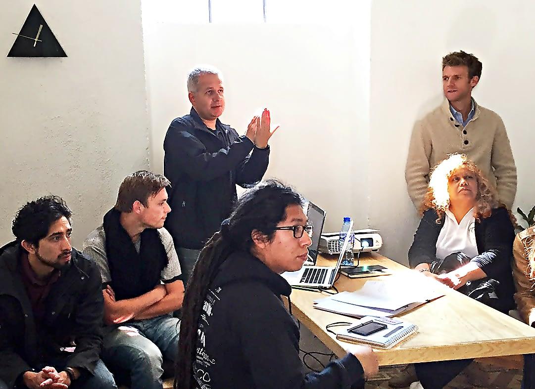 Kelly conducting team training